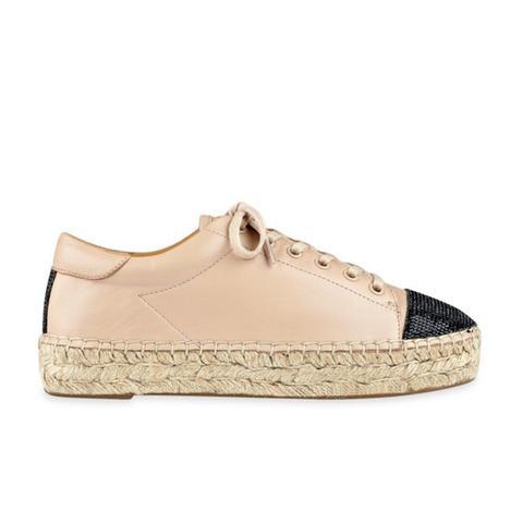 Joslyn Leather Cap Toe Espadrille Sneakers