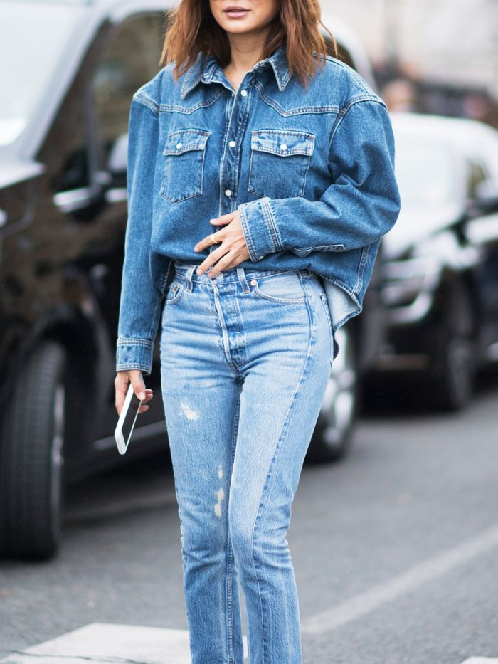 How to Wear Double Denim | Who What Wear