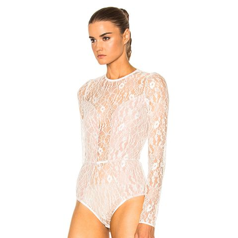 Chat Noir Lace Long Sleeve Bodysuit