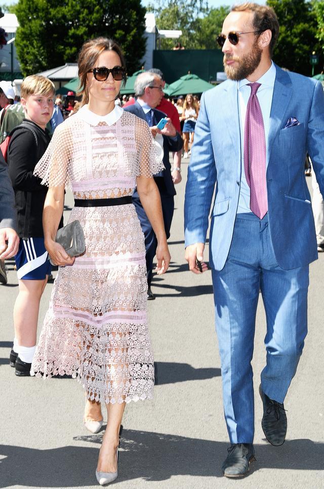 Pippa Middleton Wimbledon sheer dress