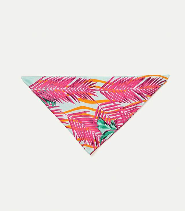 Zara Tropical Print Bandana Scarf