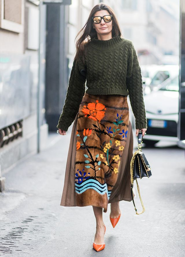 how to do the jumper and midi skirt trend whowhatwear uk