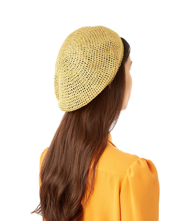 Metallic knitted beret