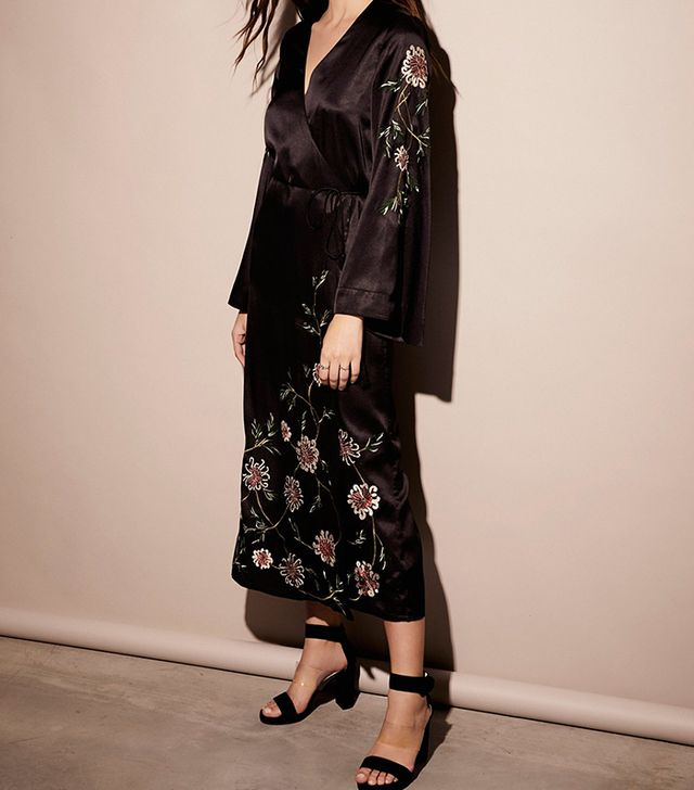 Embroidered Wrap Kimono Dress by Free People