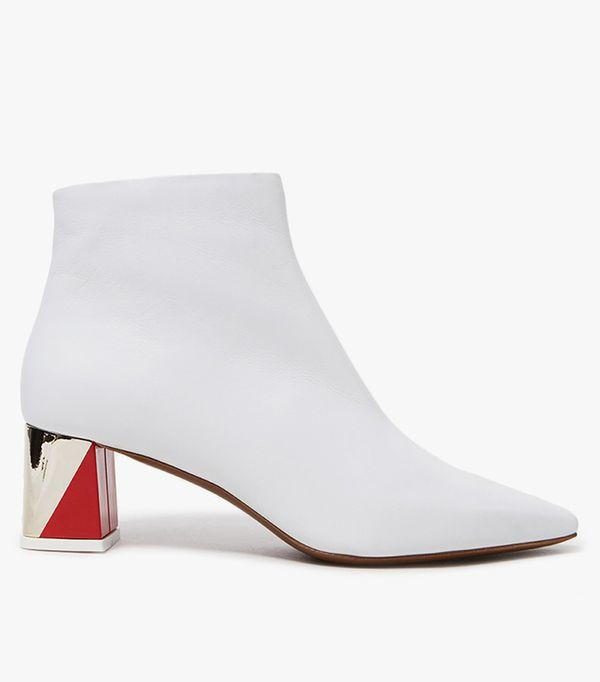 Boot in White/Red/Platino
