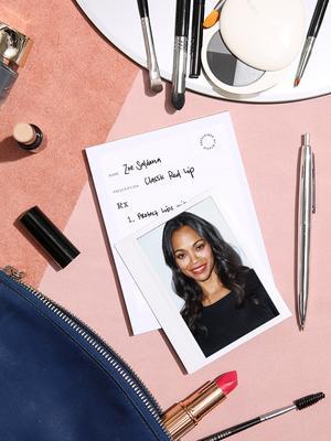 Zoe Saldana Owes Her Signature Lip Look to This Cult Red Lipstick