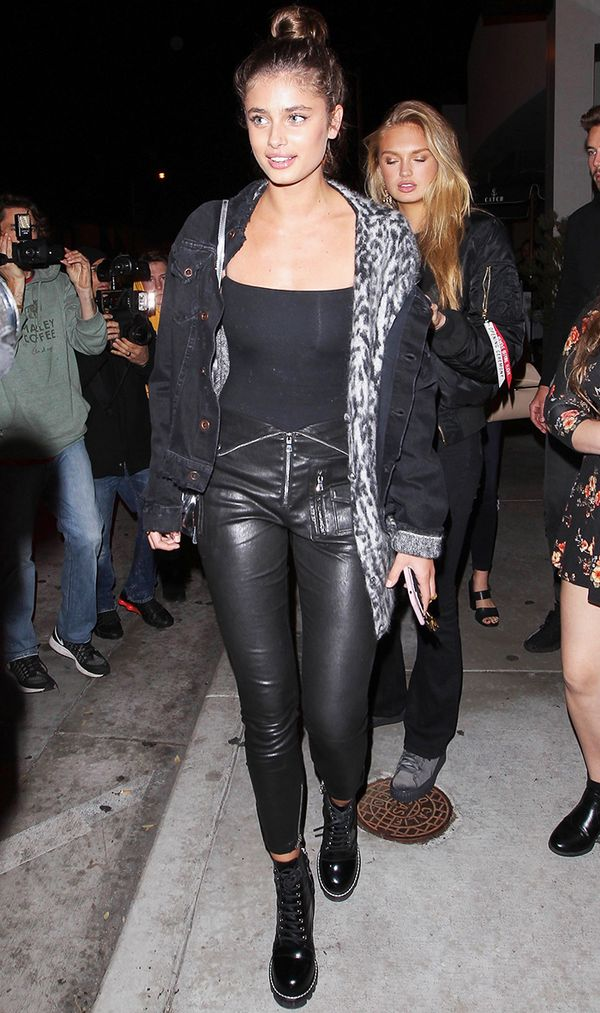 taylor hill style leather pants
