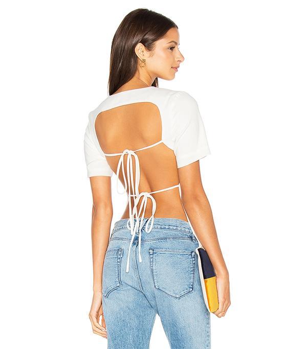 Open Tie Back T-Shirt