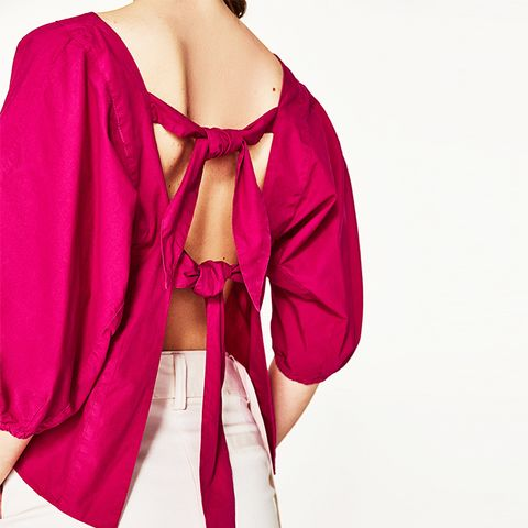 Top with Back Bows Details