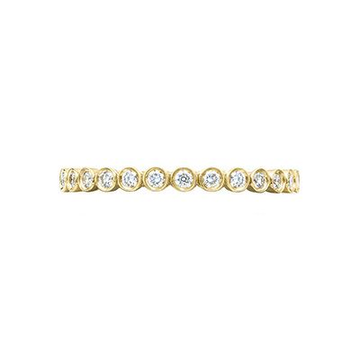 gold round diamond band