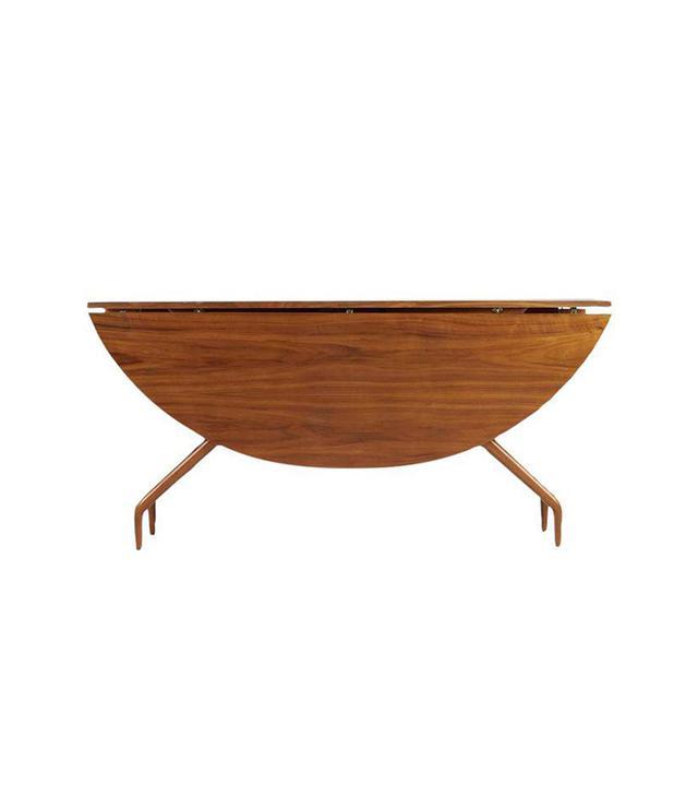 Greta Grossman 1950s Walnut Drop-Leaf Dining Table
