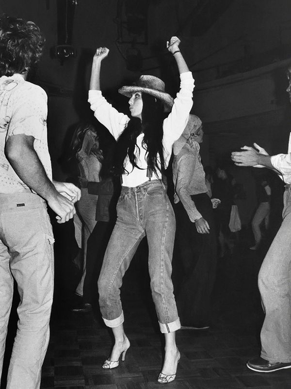 Style Notes: Cher chose this laid-back getup for Studio 54. We may not have such an epic venue for our next party night, but the outfit is definitely doable.