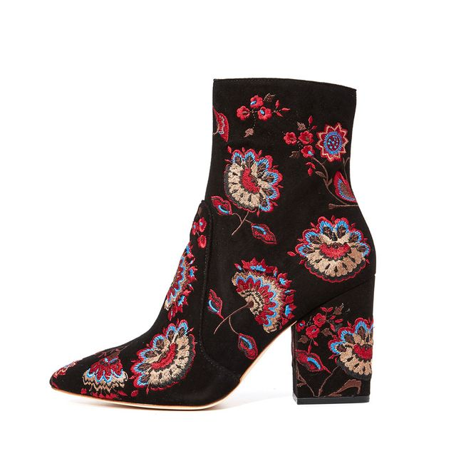 Isla Embroidered Booties