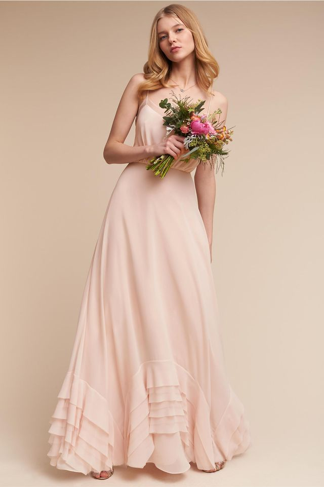Nina dobrev 39 s pretty bridesmaid dress whowhatwear for Wedding dresses for bridesmaid