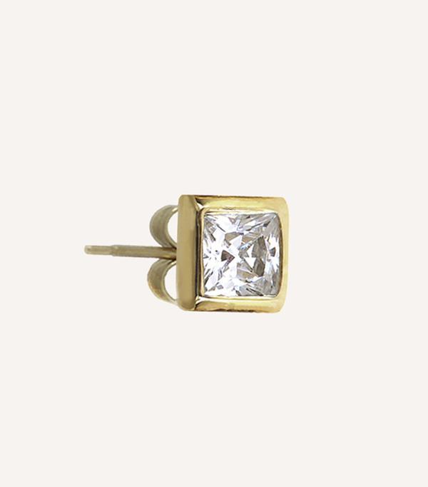 single diamond earring