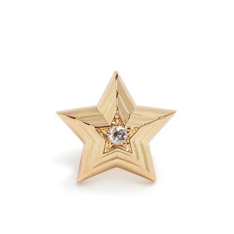 Diamond & Yellow-Gold Earring