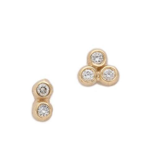 Asymmetrical Seed Stud Earrings