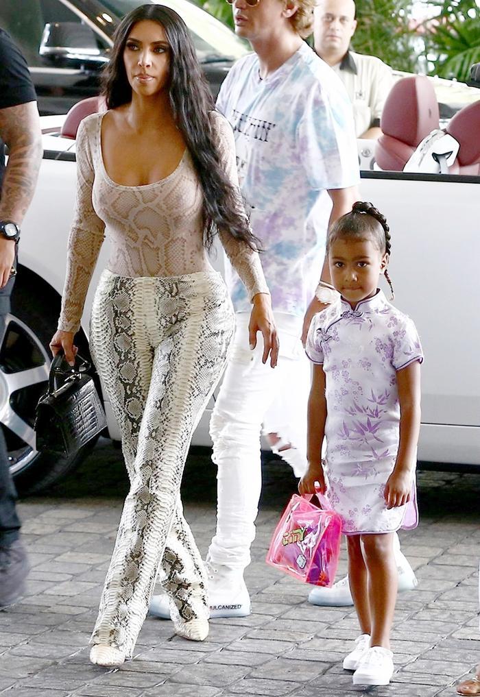 Kim Kardashian West Snakeskin Outfit