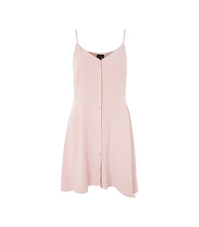 PETITE Button Front Mini Dress
