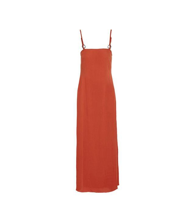 Staud Calico Crinkled Gauze Maxi Dress