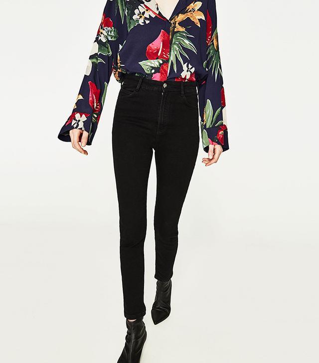 Zara High-Rise Skinny Fit Jeans