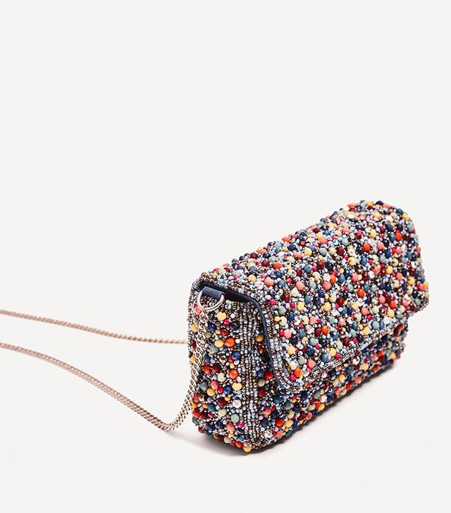 Zara Multicolored Beaded Crossbody Bag