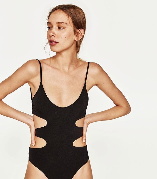 Zara Swimsuit With Side Openings