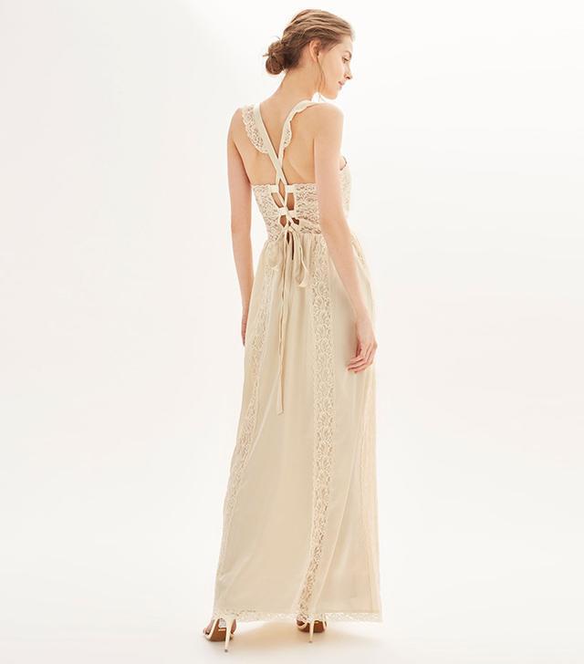 *Satin Lace Maxi Dress