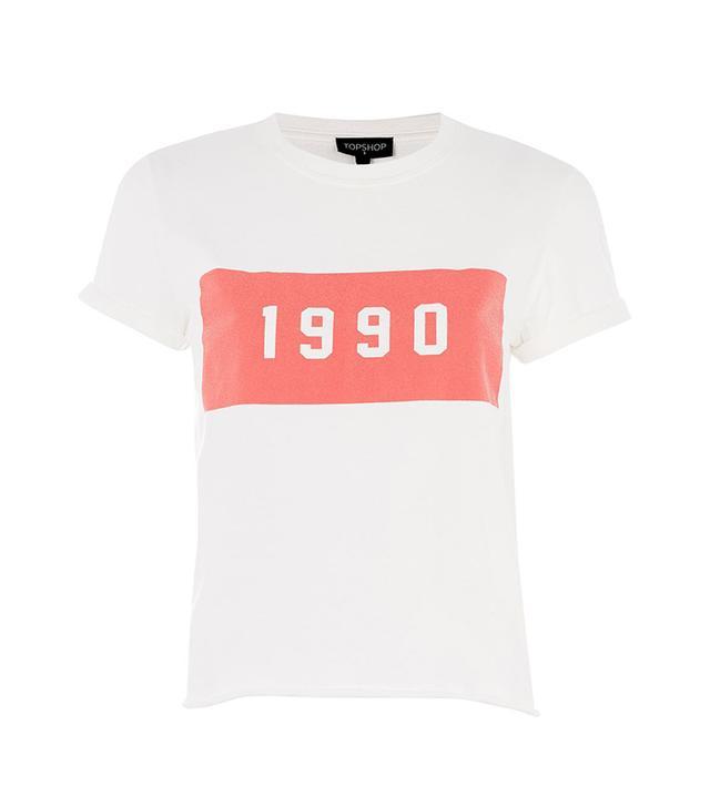 '1990' Motif T-Shirt