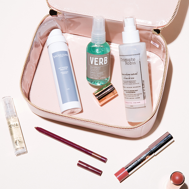 byrdie hair and makeup bag - summer makeup trends