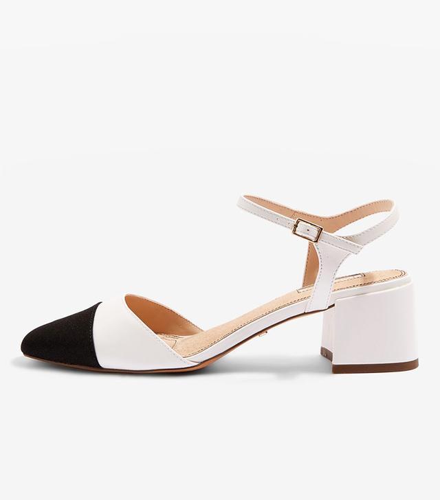 JOLENE Toe Cap Block Heeled Sandals