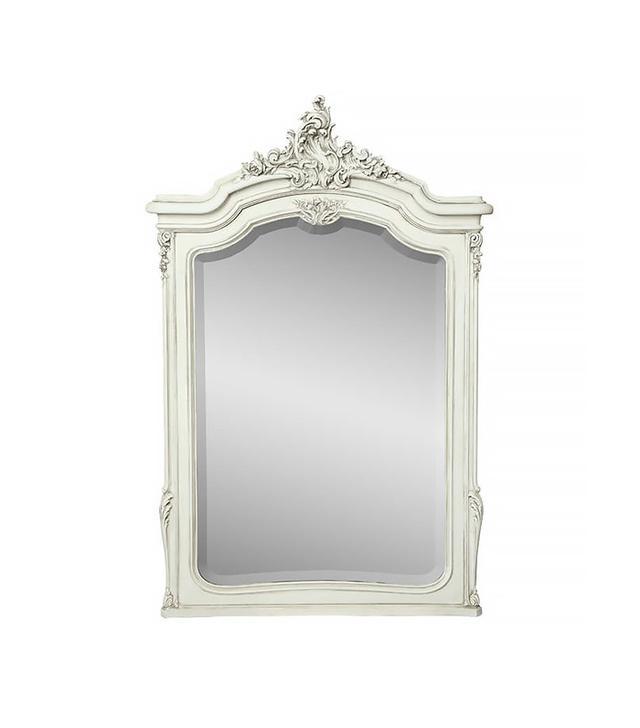 Antique French Louis XV Walnut Mirror
