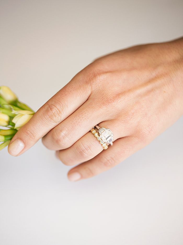 How to Style Your Wedding Ring Who What Wear