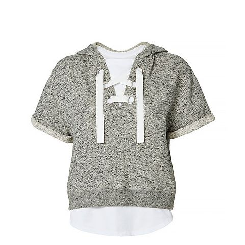 Lace-Up Hoodie And Tee