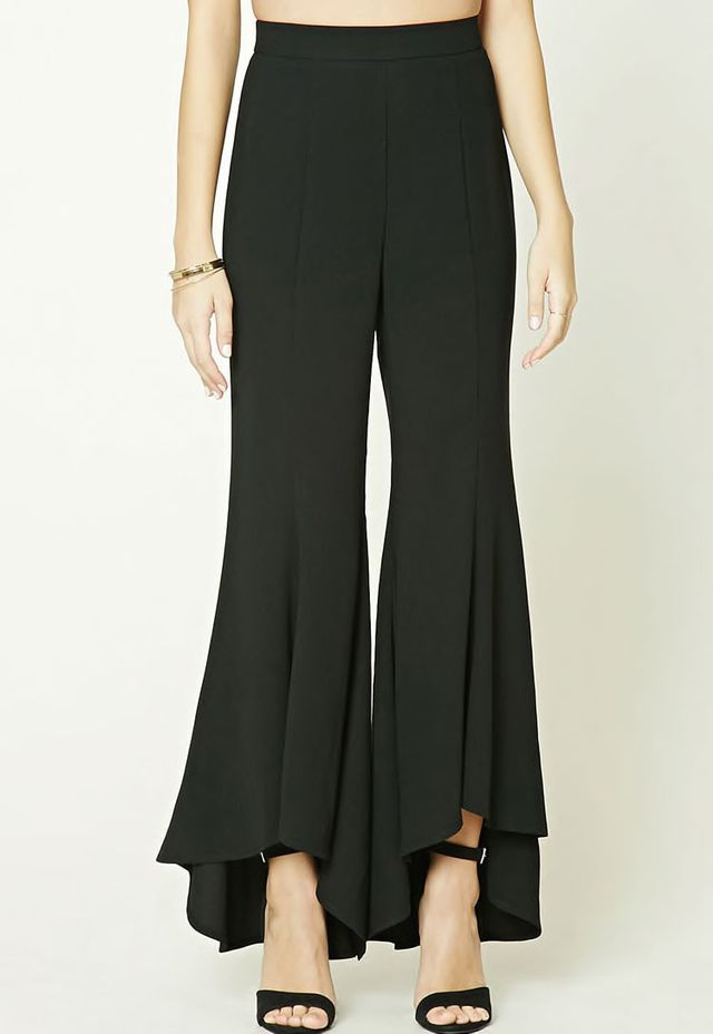 High-Low Hem Pants