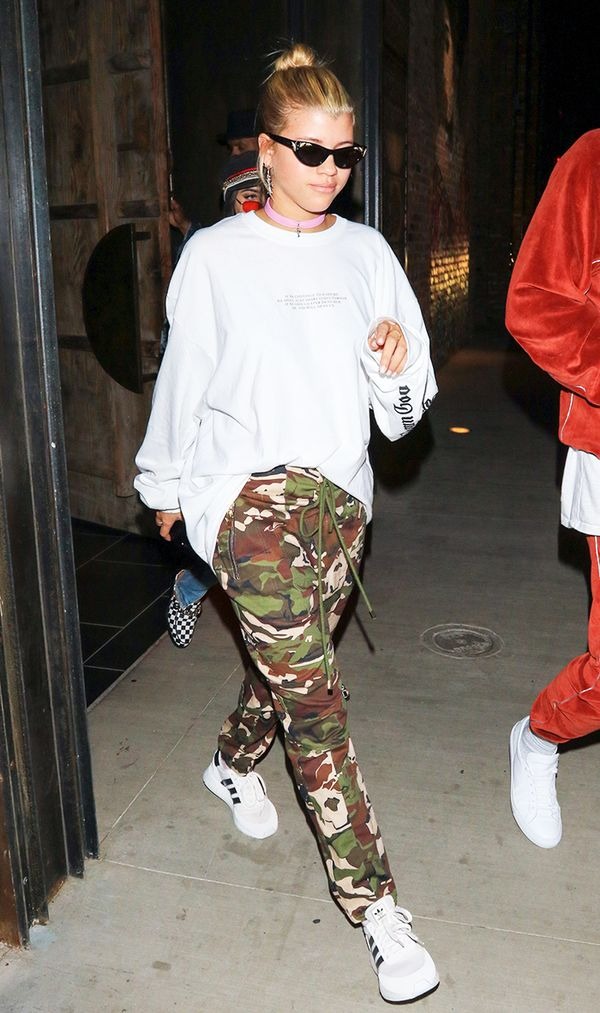 Sofia Richie in Camo Pants