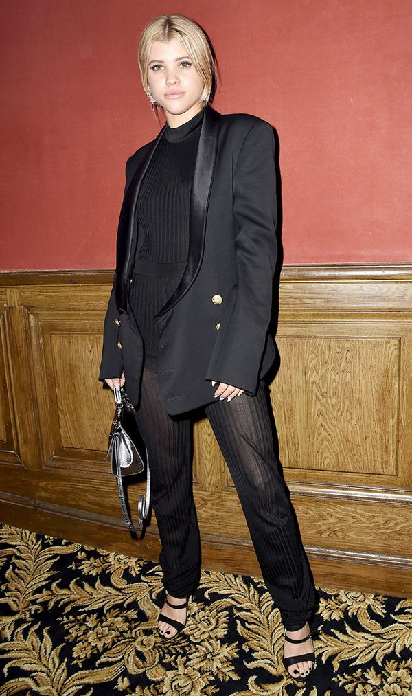 Sofia Richie in black suit