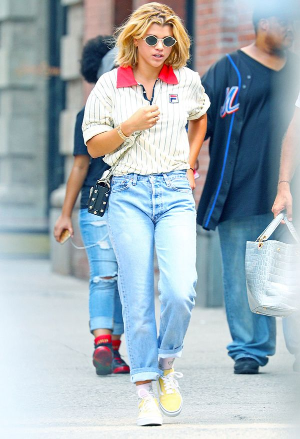 Sofia Richie wearing Vans sneakers