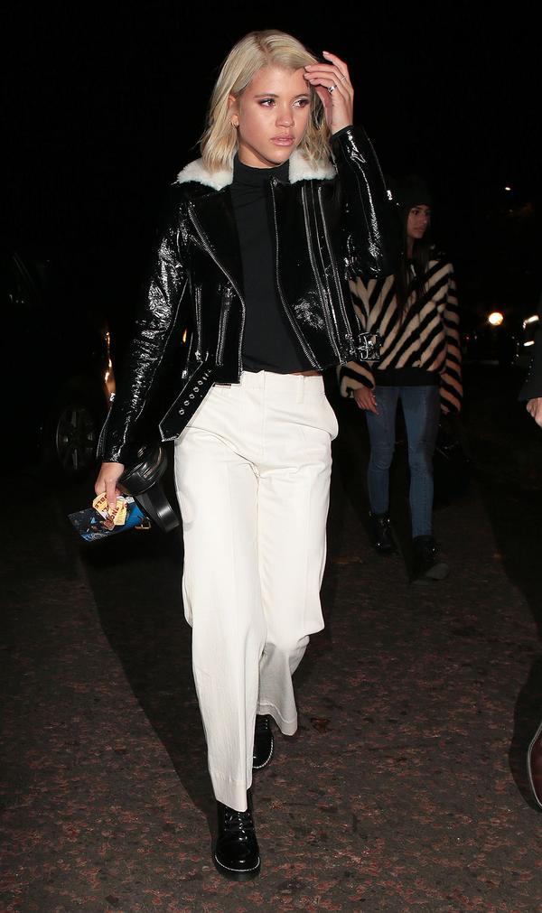 Sofia Richie leather jacket