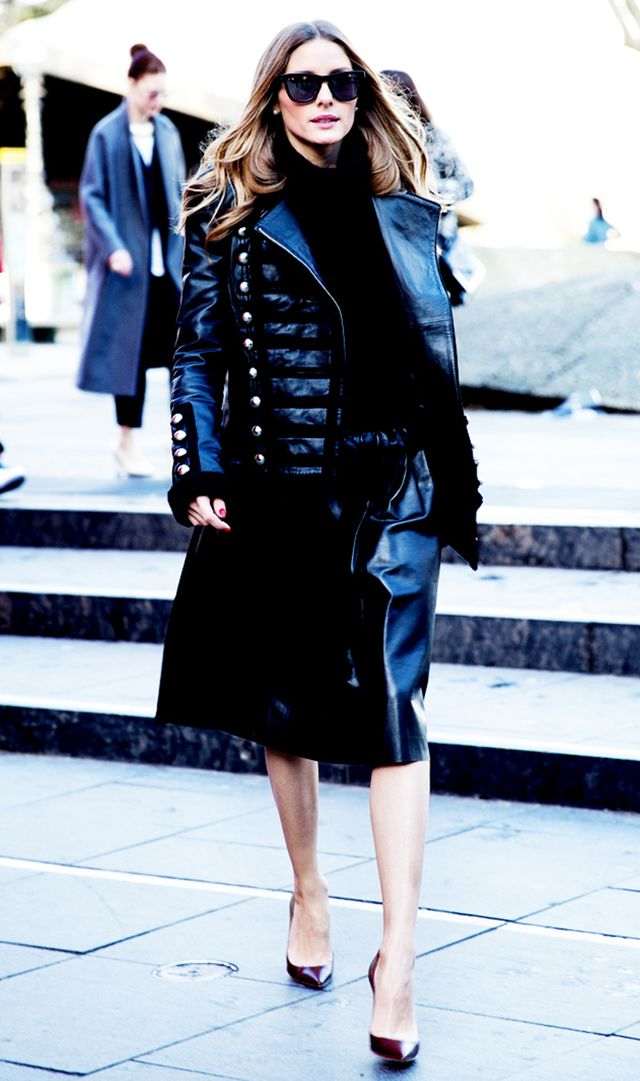Olivia Palermo in all black
