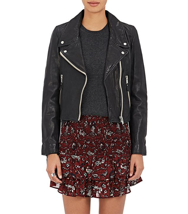Women's Aken Leather Moto Jacket