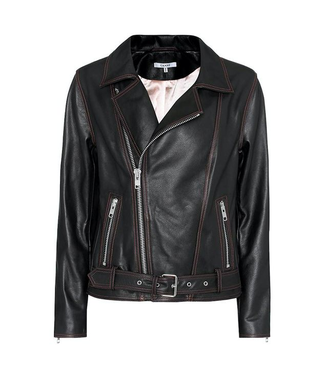 Tatin leather moto jacket