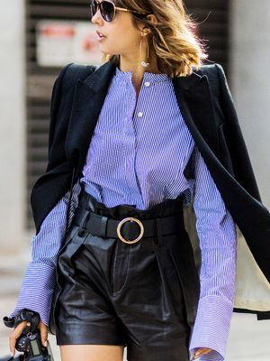 How to Style Leather Shorts Like a Fashion Girl