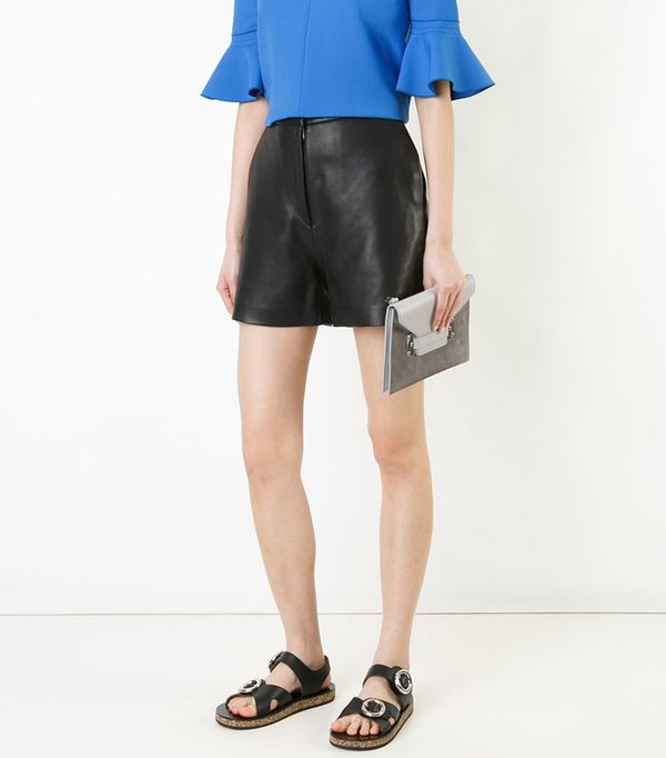 how to style leather shorts