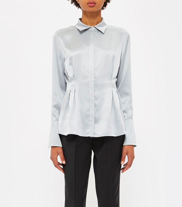 Darted Sandwashed Silk Blouse by Boutique