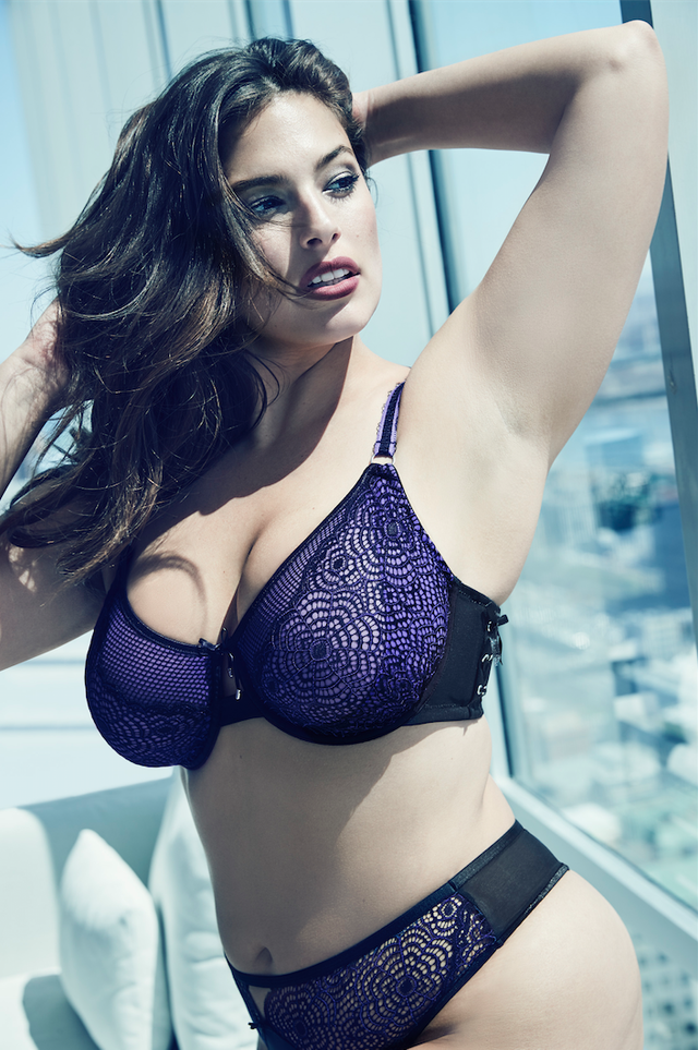Addition Elle Ashley Graham Fatal Attraction Bra With Laced Up Side