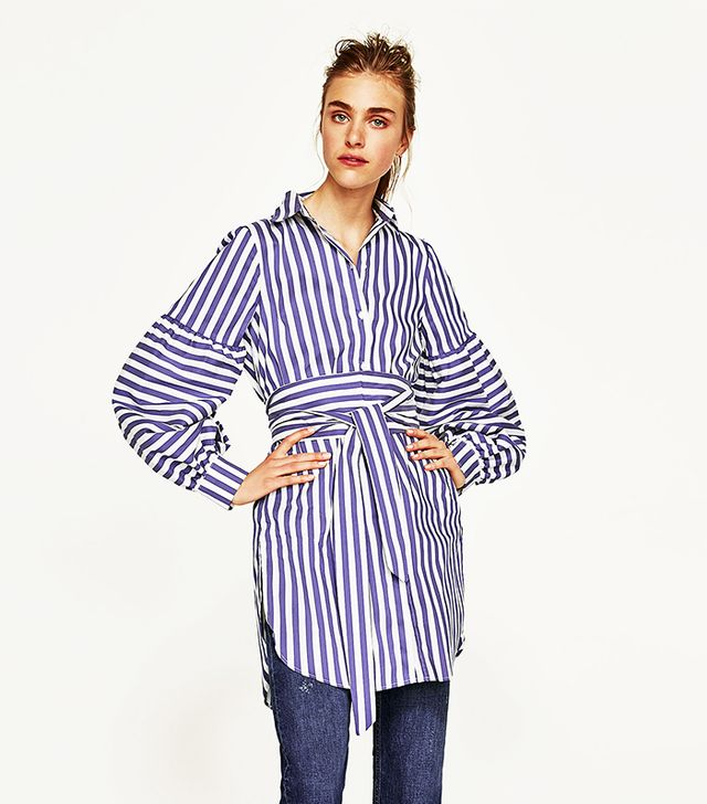 TUNIC WITH PUFFY SLEEVES