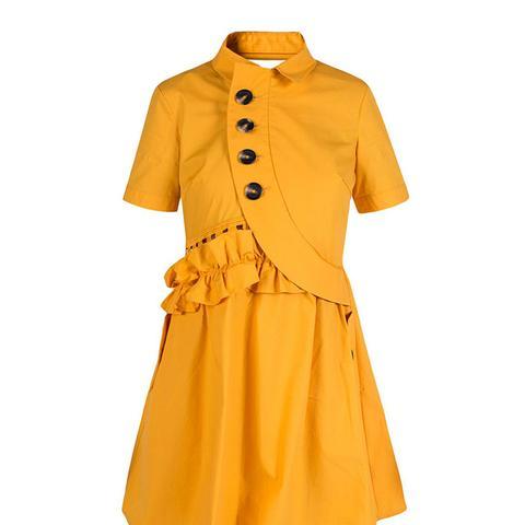 Button Shirtdress in Mustard
