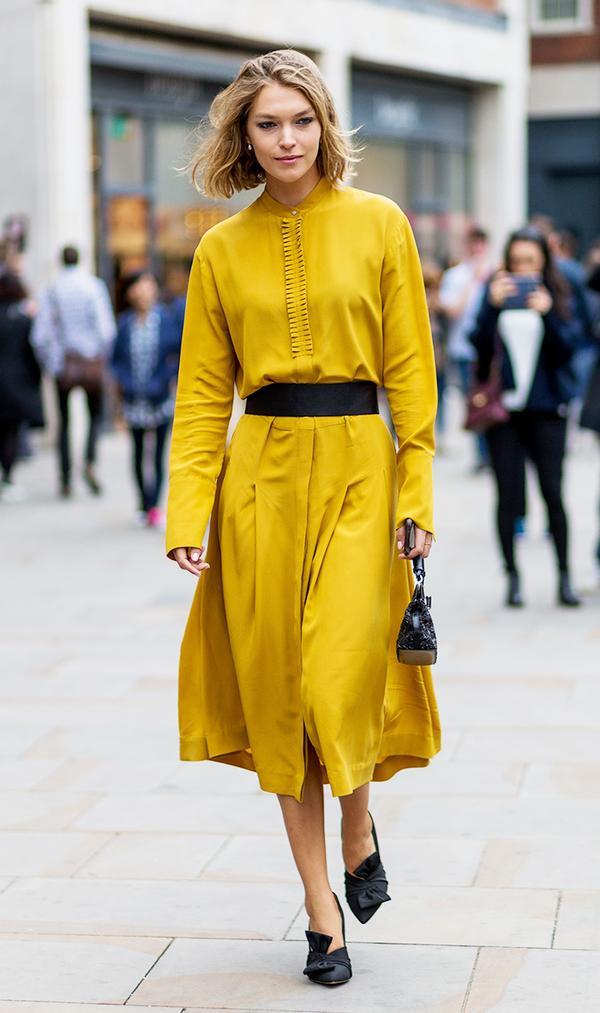 mustard dresses