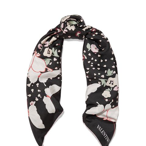 Butterfly Printed Silk-Twill Scarf